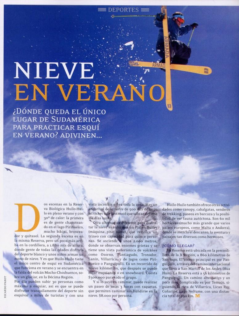 revista Mira reportaje nieve
