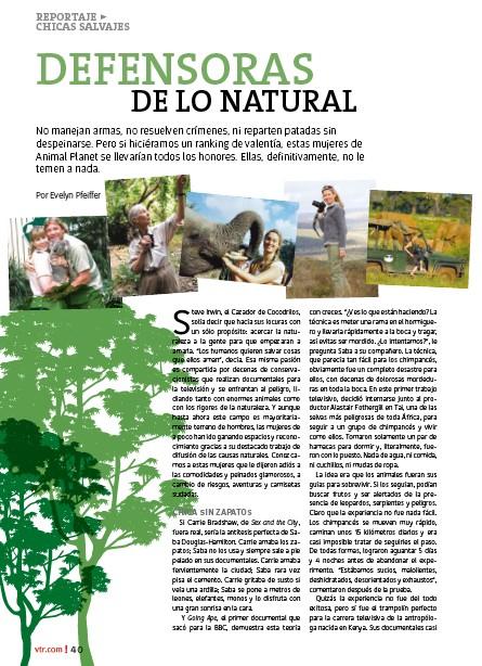 revista vtr defensoras de lo natural