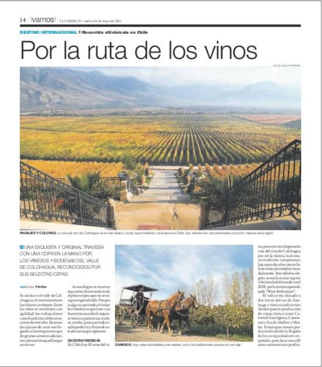 Reportaje en diario El Comercio-Perú